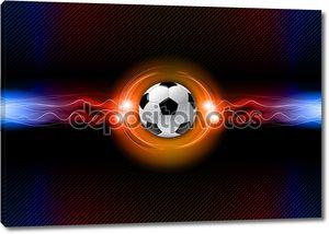 Футбольный мяч на черном фоне
