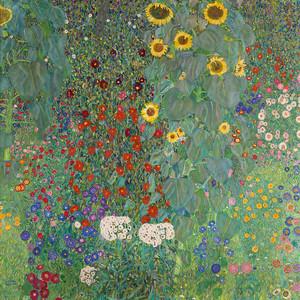 Густав Климт. Палисадник с подсолнухами