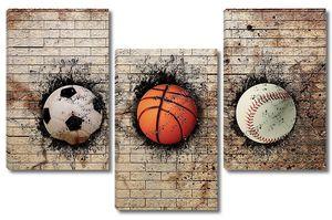 баскетбол, бейсбол и футбол
