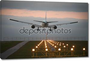 приземление самолета