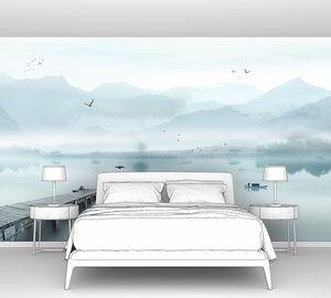 Пирс на горном озере