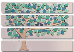 Дерево с абстрактной листвой
