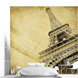 Фреска с прекрасной Эйфелевой башней