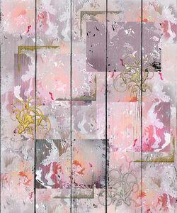 Абстракция в розово-серых тонах