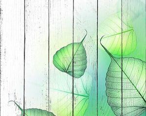 Красивые зеленые листья граница. Цветочный дизайн