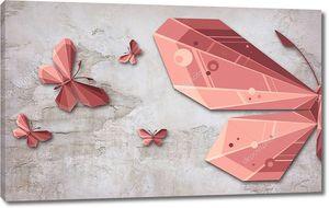Бумажные бабочки на винтажном фоне