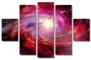 Галактика со звездами