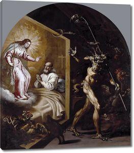 Кардучо Висенте. Явление Богородицы картезианскому монаху