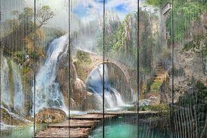Мосты рядом с водопадами