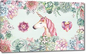 Единорог в цветах