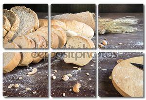Деревянный фон с хлебом