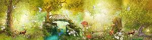 Речушка в волшебном  лесу