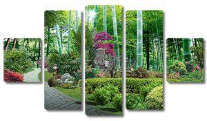Тропические растения в парке
