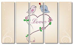 Сердечко с птичками