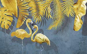 Золотые фламинго