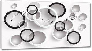 Белые и черные кольца, белые и черные ласточки