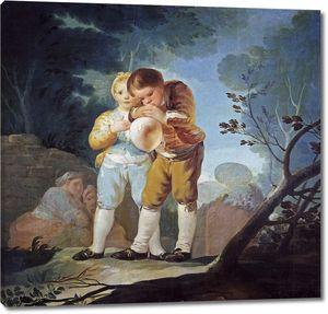 Гойя и Лусиентес Франсиско де. Дети, раздувающие пузырь