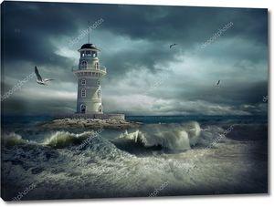 Маяк на штормовом море