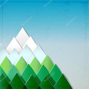 фон с стилизованное изображение гор