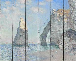 Клод Моне. Скала Игла и Порт д'Аваль, Этрета