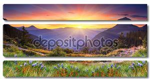 Закат в горах пейзаж
