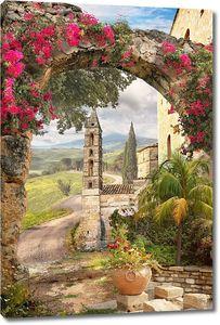 Вход в цветочную арку