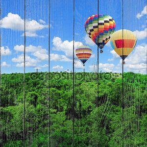 Красочные воздушные шары летать высоко