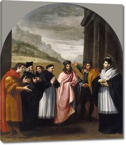 Кардучо Висенте. Св. Бруно с шестью сподвижниками решают уйти из мира в отшельничество