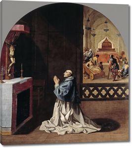 Висенте Кардучо. Отец Бернард молится в монастыре