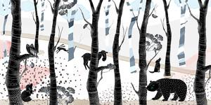 Woodland-звери в лесу