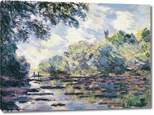 Моне Клод. Разлив Сены близ Живерни, 1885