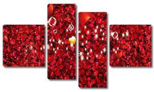 Ковер из лепестков роз