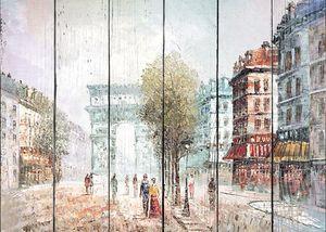 Прекрасная картина с видом на Париж