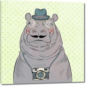 Бегемот битник  с камерой