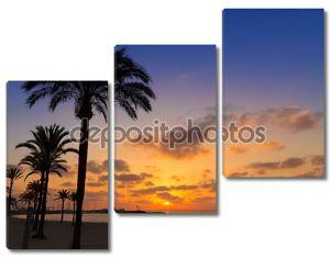 Майорка El Arenal пляж закат sarenal возле Пальма