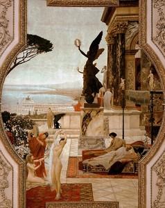 Климт Густав. Театр в Таормине (фреска)