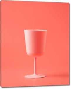 Розовый бокал
