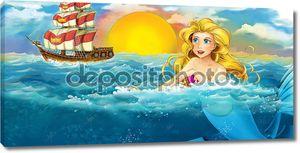 Мультфильм океан и Русалка