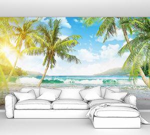 Тропический остров с пальмами