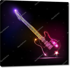 вектор Неон гитара, гранж музыка
