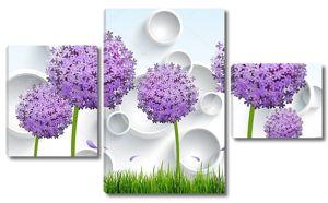 Шарики фиолетовых цветов