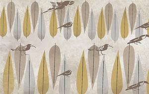 Орнамент из листьев и бекасов