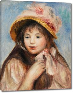 Пьер Огюст Ренуар. Девочка с розовым капотом