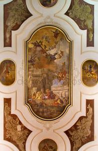 Венеция, Италия - 13 марта 2014 года: потолочные фрески в церковь Кьеза dei santi apostoli xii Фабио канала «la comunione дельи Апостоли» - причастие апостолов от 16. %