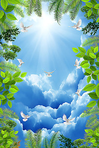 Лисья окаймляют небо