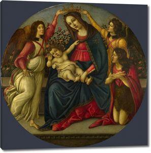 Мастерская Боттичелли. Мадонна с млад., св.Иоанном Крестит. и двумя ангелами