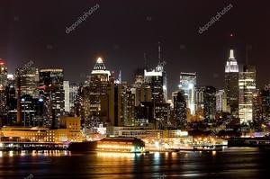 Манхэттен через реку Гудзон