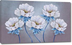 Цветы с синими стеблями