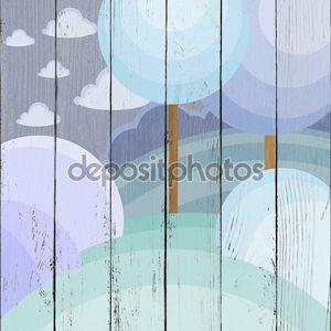Зимний абстрактный лес