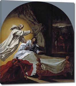 Кардучо Висенте. Явление святого Бруно Роже Гискару, графу Апулии и Калабрии